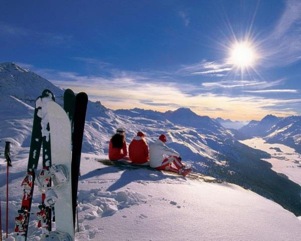 Покататься в горах на лыжах