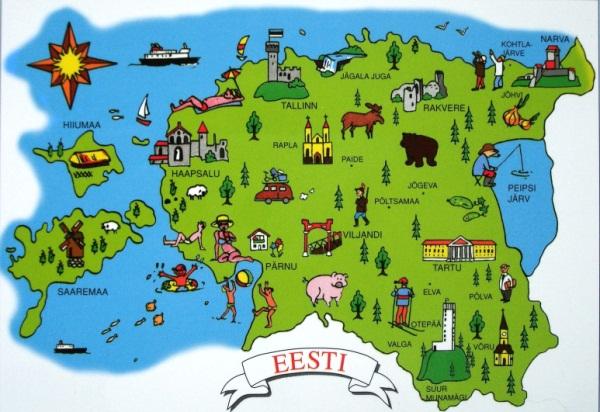 Замки Эстонии на карте