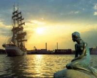 Путешествие в Данию: политическая карта мира на русском языке