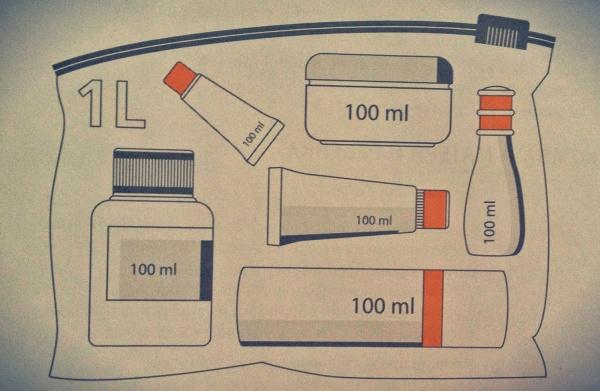 Правила провоза жидкостей