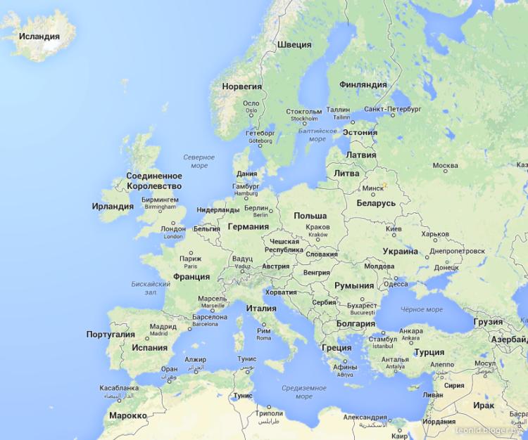 страна на мировом атласе на русском языке