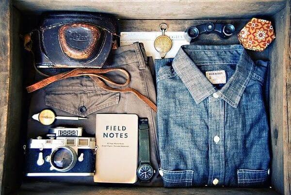 чемодан мужчины