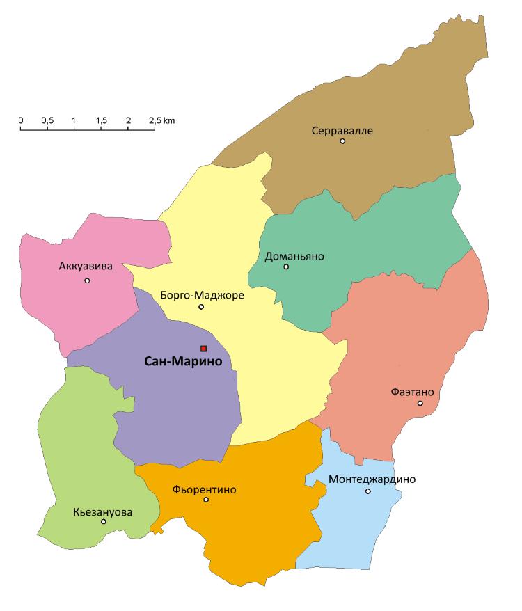 Где, в какой стране находится Сан-Марино на карте мира, Европы и Италии? (сезон)