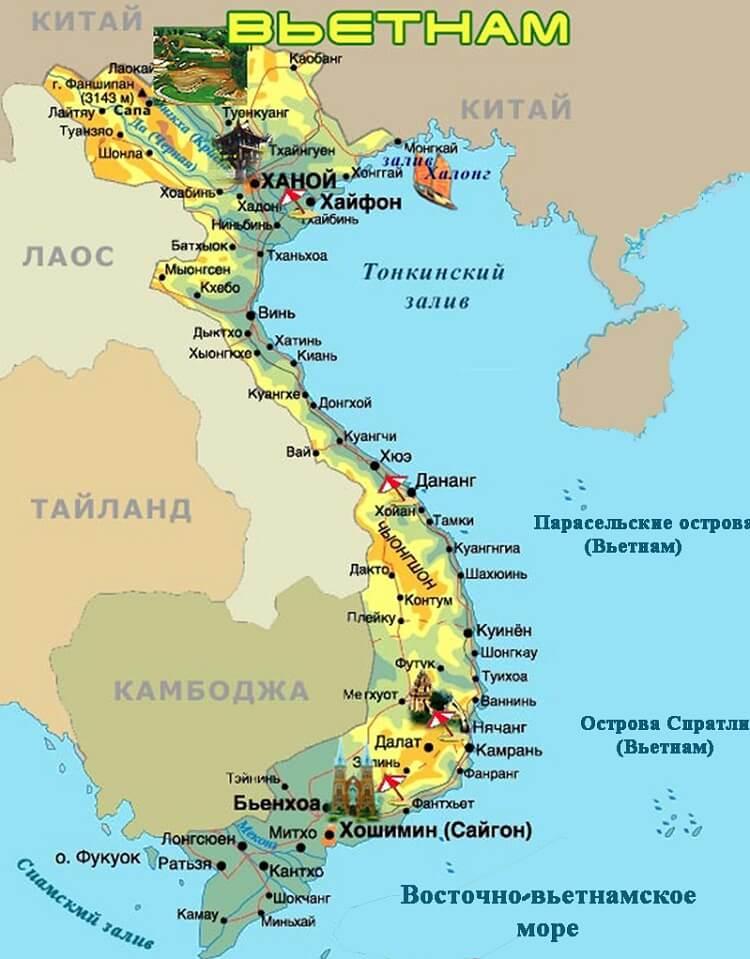 карта мест для пляжного отдыха