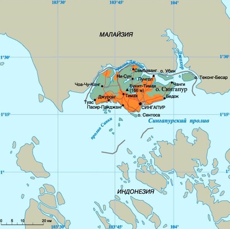 Сингапур на карте мира: где находится и это столица какого государства? (сезон)