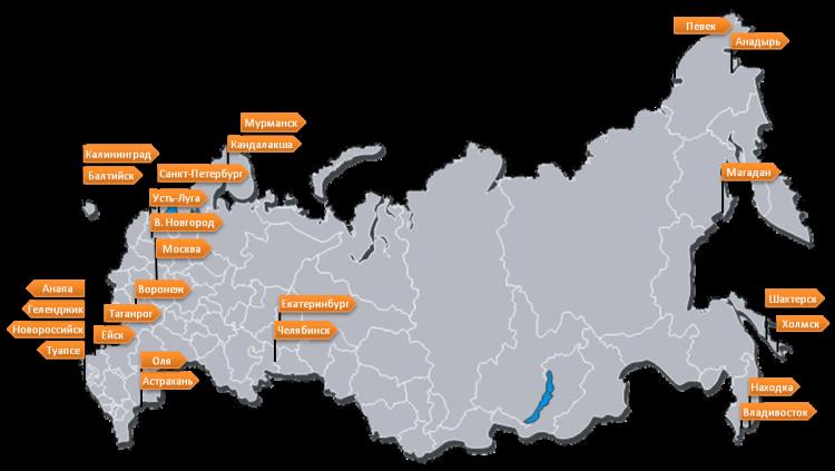 портовая схема России