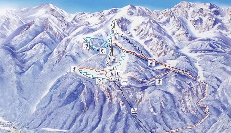 Горные лыжи в Словении: горнолыжные курорты на карте - Бохинь и другие (сезон)