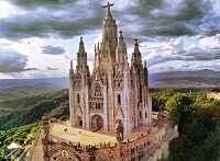 Храм Святого Сердца в столице Каталонии