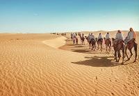 Жаркая пустыня Сахара на карте