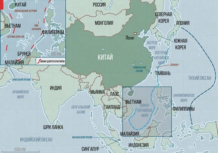 морские территории на мировом атласе