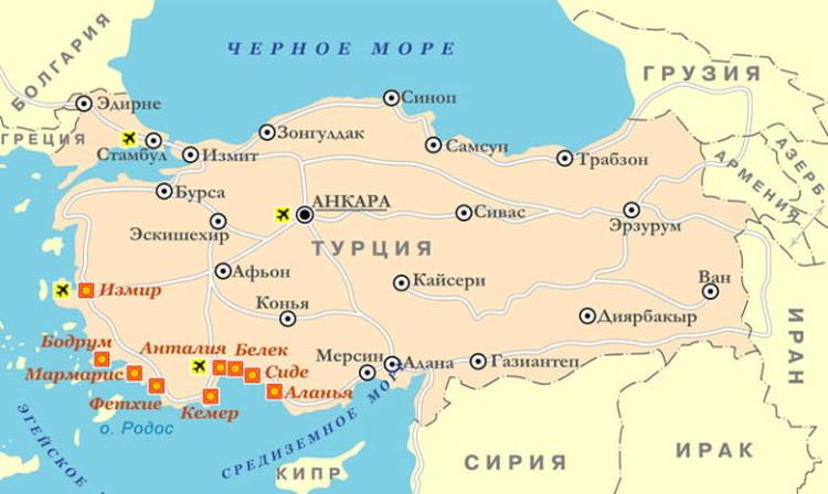 населенный пункт на карте