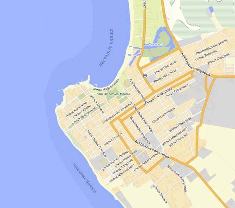 какие пляжные зоны на карте песочные?