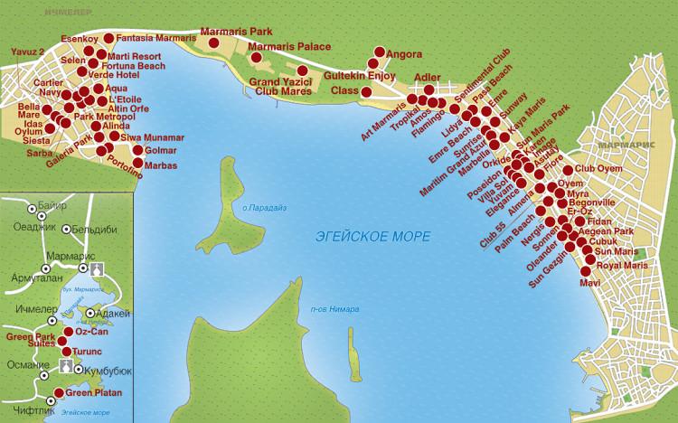 топ популярных пятизвездочных гостиниц на карте города
