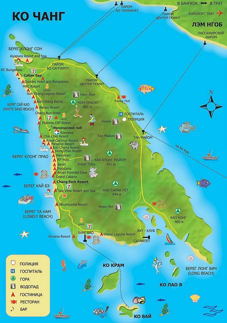 остров на карте страны