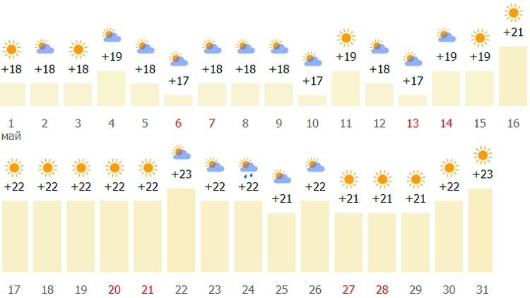 какие погодные условия в конце весны?