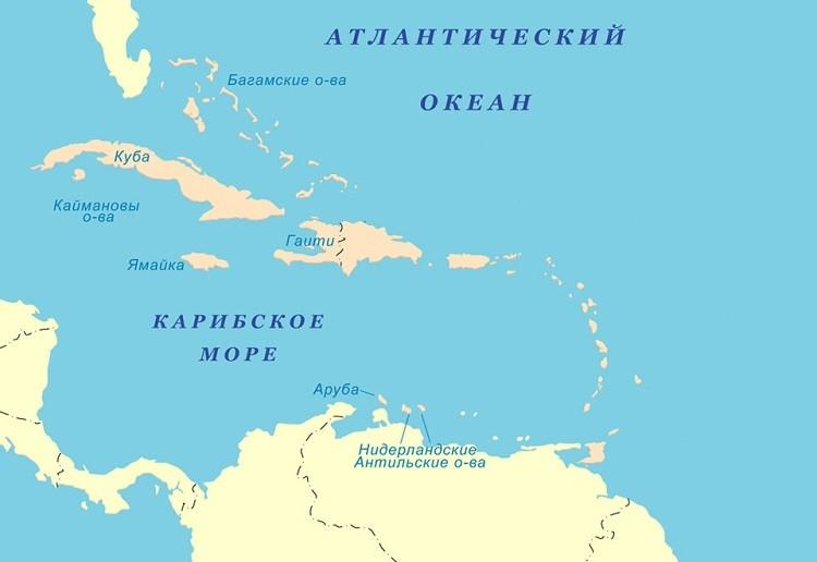 море на мировом атласе