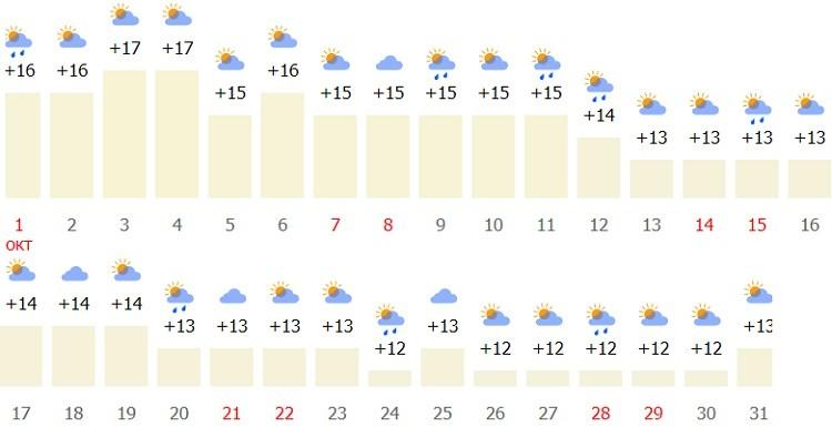 погодные условия в столице