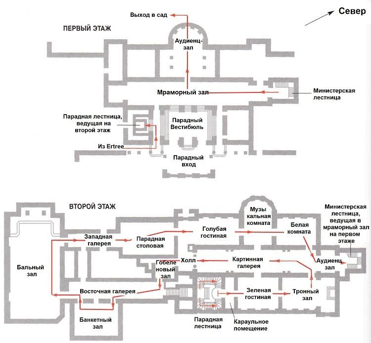 схема помещений и интерьеры