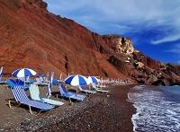 пляжи Санторини