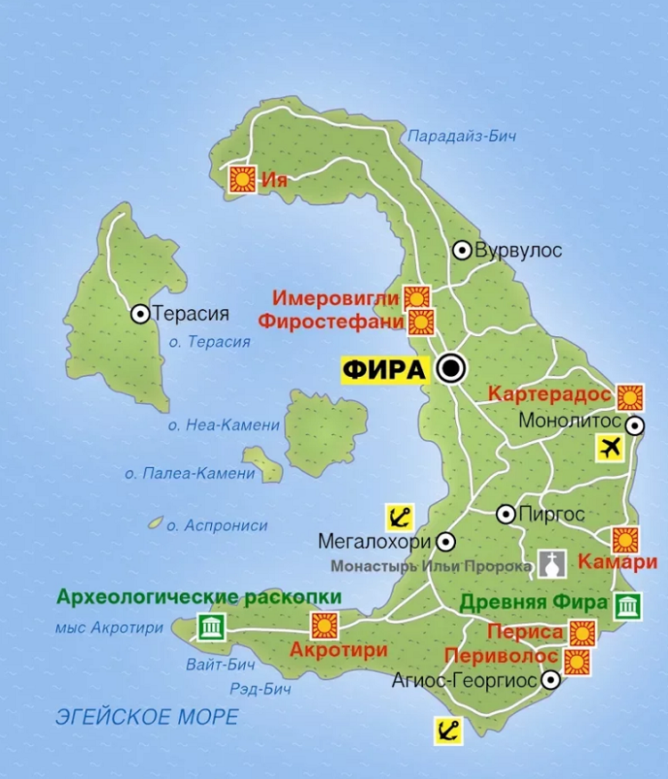 русскоязычная карта острова