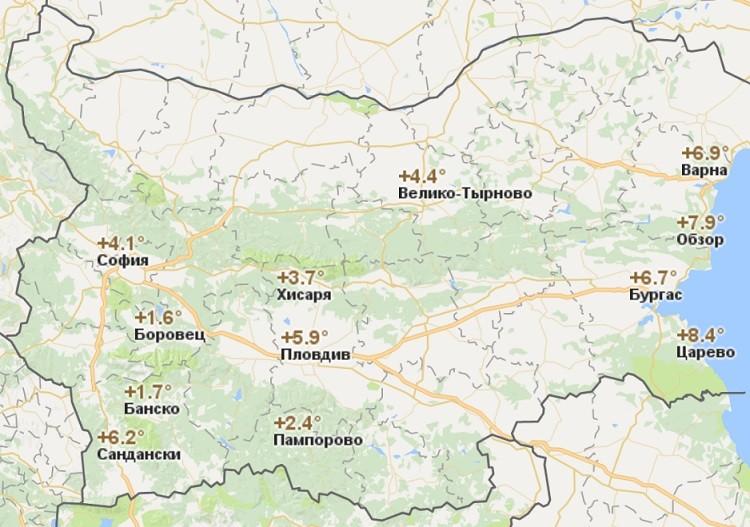 климатические условия и показатели термометра в начале зимы