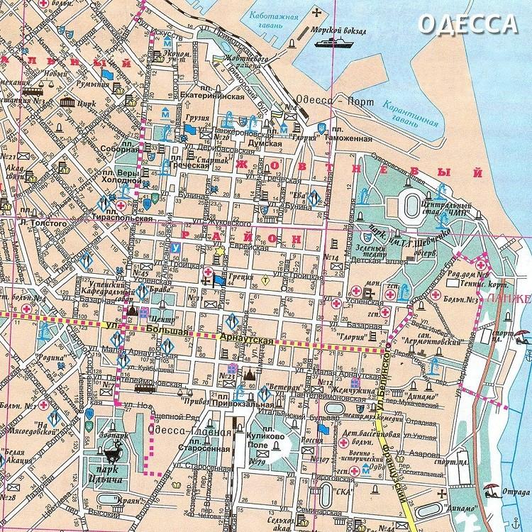 уличные линии на карте города