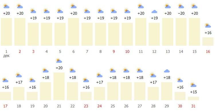 погодные и температурные условия в регионе в начале зимы