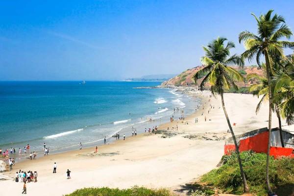 пляжная территория Калангута