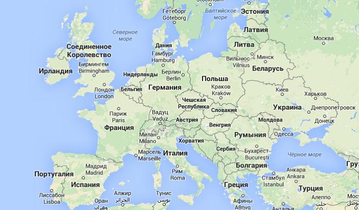 столица Португалии на европейском и мировом атласе