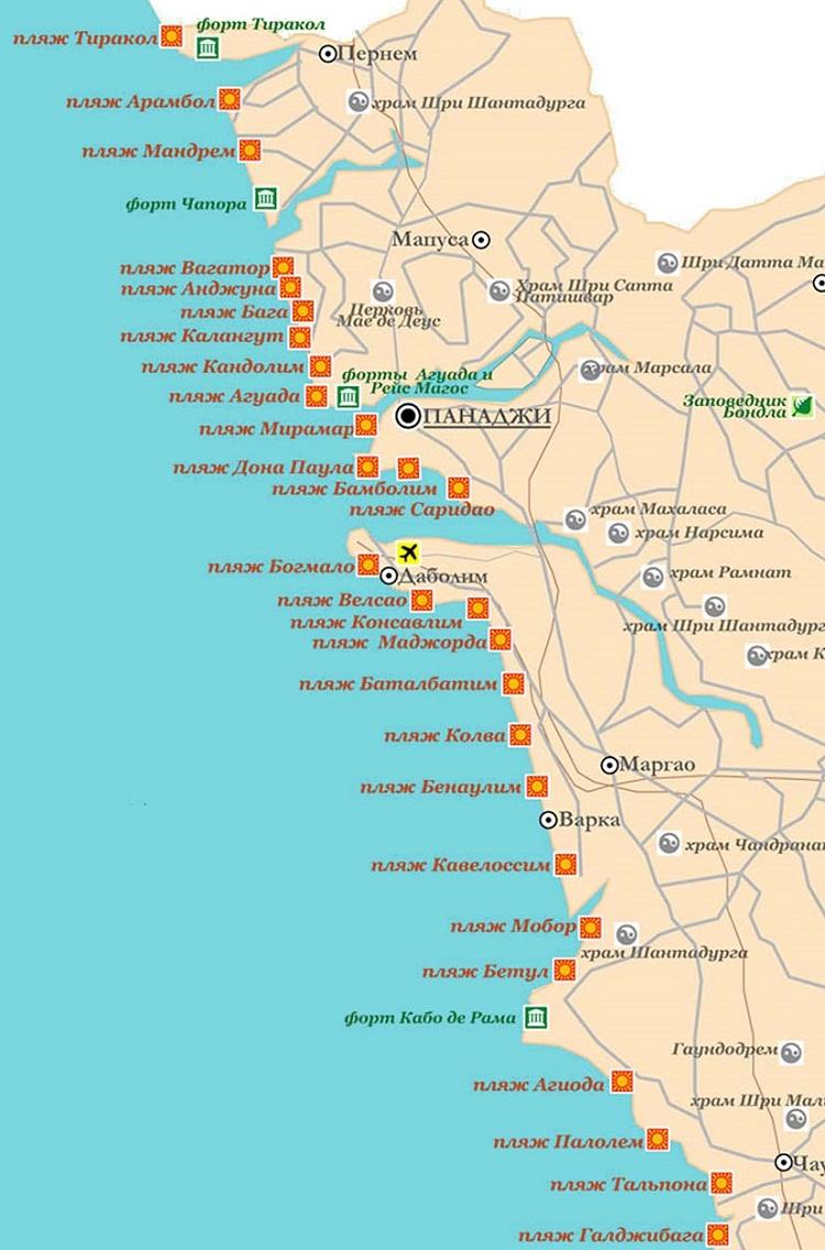 курорт на карте штата