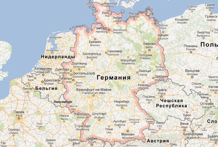 город на немецкой карте