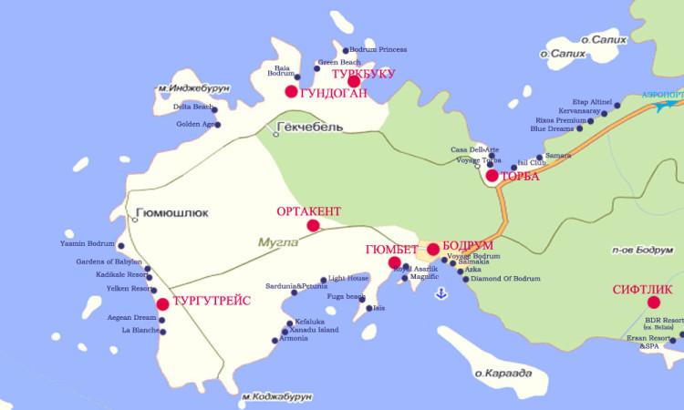районы полуострова