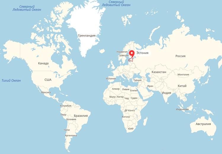 европейская страна на мировом атласе