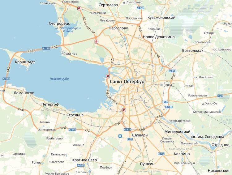 Царское Село на карте